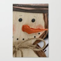 snowman Canvas Prints featuring Snowman  by IowaShots