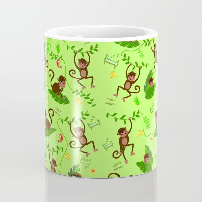 Jumping cheeky monkeys 01 Coffee Mug