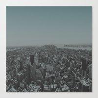 manhattan Canvas Prints featuring Manhattan by Leah Flores