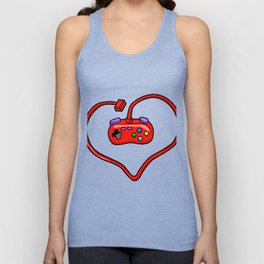 joystick heart Unisex Tank Top