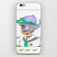 crocodile iPhone & iPod Skins featuring Crocodile by Natali Koromoto