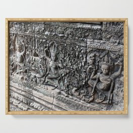Cambodian Temple Wall Serving Tray