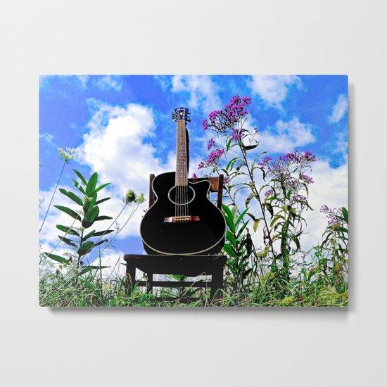 Music & Nature Metal Print