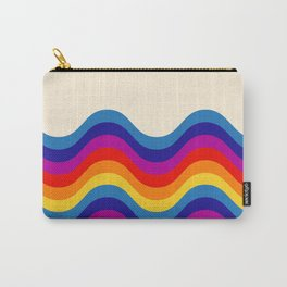 Wavy retro rainbow Carry-All Pouch