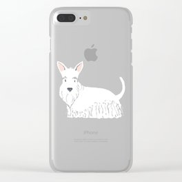 Scottish Terrier White Clear iPhone Case