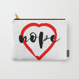 Nope Anti Love Valentine's Day Carry-All Pouch