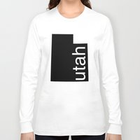 utah Long Sleeve T-shirts featuring Utah by Isabel Moreno-Garcia