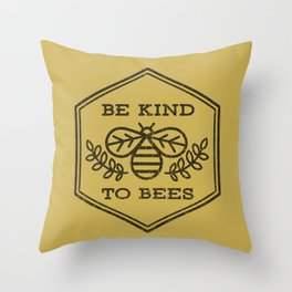Be Kind To Bees Throw Pillow