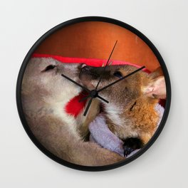 First Love  - Wallaby Babies Wall Clock