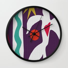 Inspired to Matisse (violet) Wall Clock