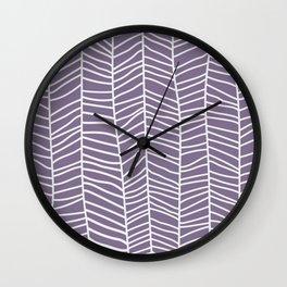 Baesic Herringbone (Eggplant) Wall Clock