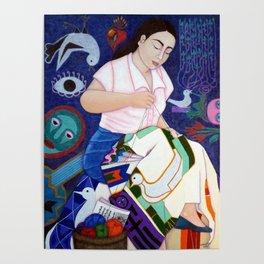 Violeta Parra embroidering life Poster