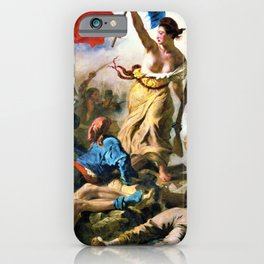 Eugene Delacroix - Liberty Leading The People - Digital Remastered Edition iPhone Case