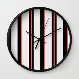 White black and pink lines Wall Clock