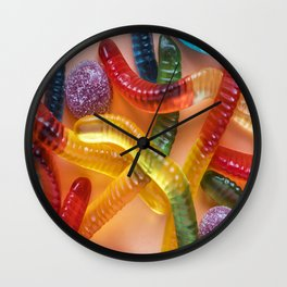 Go and Eat Worms :) Gummy Worms Candy Wall Clock