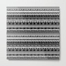 Halloween stripes Metal Print