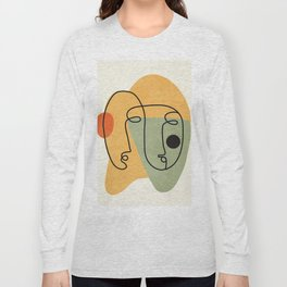 Abstract Faces 19 Long Sleeve T-shirt