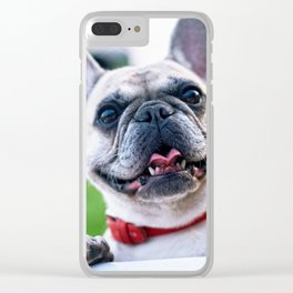 French Bulldog Says Hello Clear iPhone Case