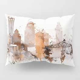 Vintage Louisville skyline design Pillow Sham