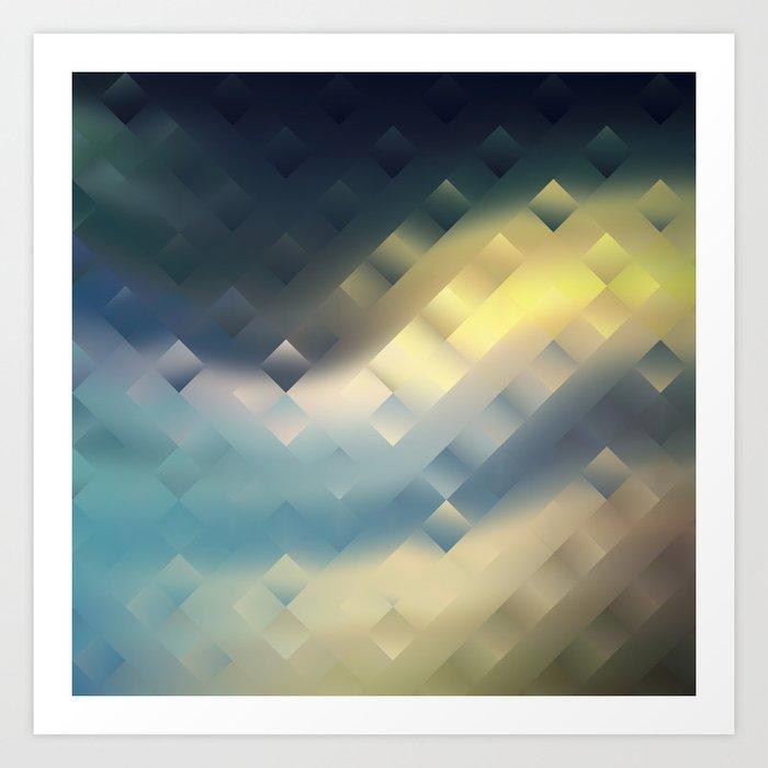 Sunrise. Colorful creative design . Art Print