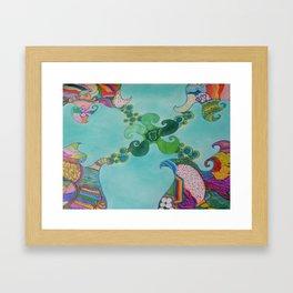 Swirly Framed Art Print