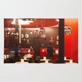 Red café PARIS Rug