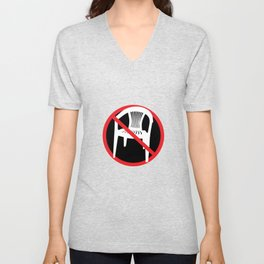 F*ck tha extruded chair! Unisex V-Neck