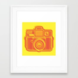 I Still Shoot Film Holga Logo - Yellow & Red Framed Art Print