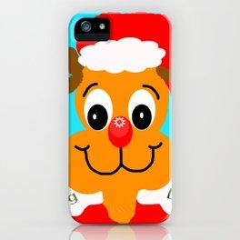 Nadolig llawen reindeer - Merry Christmas wales iPhone Case