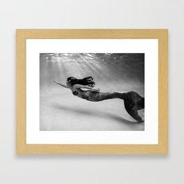Mermaid Among Us (up) Framed Art Print