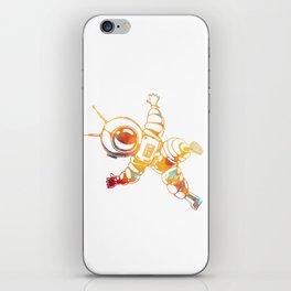 Orange Astronaut Cosmonaut Spaceman Funny Galaxy Space iPhone Skin