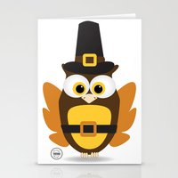thanksgiving Stationery Cards featuring Owl Thanksgiving by Yatasi