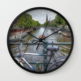 Amsterdam Bridge Canal View Wall Clock