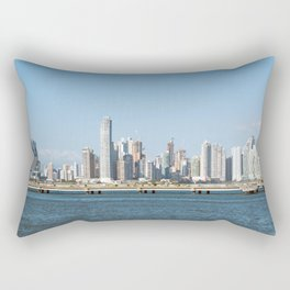 Panama City skyline -  Downtown business district Rectangular Pillow