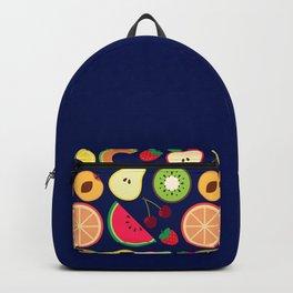 Fruit pattern vector illustration colorful Backpack