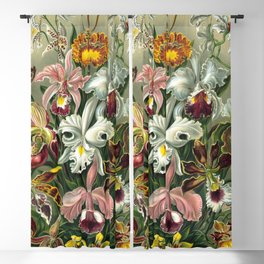 Vintage Orchid Floral Blackout Curtain