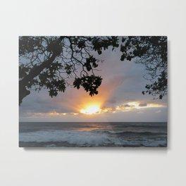 LAST SUNSET AT TURTLE BAY Metal Print