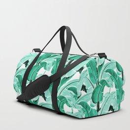 jungle leaf pattern mint Duffle Bag