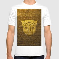 Autobot logo SMALL Mens Fitted Tee White