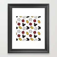 Mickey Mouse icons Framed Art Print