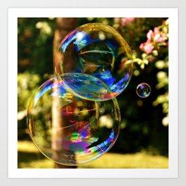 Bubbles | Bulles Art Print