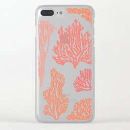 Coral Mania Clear iPhone Case