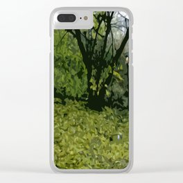 Budapest Green  Clear iPhone Case