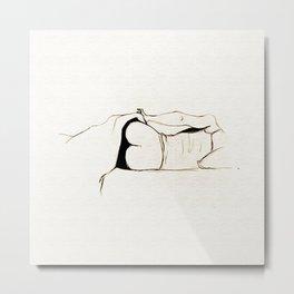 Bedtime - Black and White series Metal Print