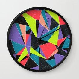 Geometric explosion Wall Clock