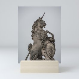 Unicorn and Shield Mini Art Print