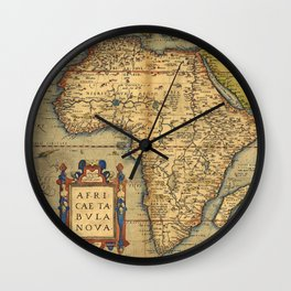Old map of Africa Wall Clock