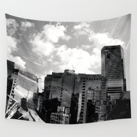 buildings Wall Tapestries featuring Buildings  by Mich Li