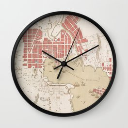 Vintage Map of Baltimore MD (1793) Wall Clock