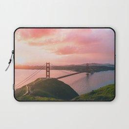 Sherbert Skies over the Golden Gate Bridge from Slackerhill Laptop Sleeve